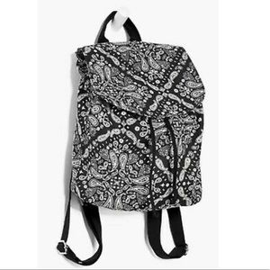 PINK Mini Canvas Backpack Black Paisley